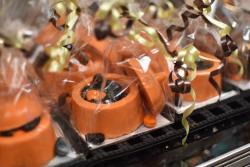 Orange pumpkin candies from Schimpff's Confectionery
