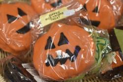 Pumpkins with faces candy from Schimpff's Confectionery