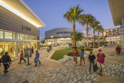 Shoppers enjoy open-air shopping at Tanger Outlets