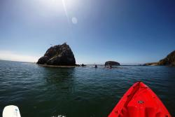 Kayak floating near Avila Beach in SLO CAL