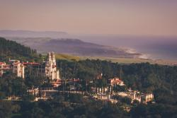 Aerial view of Hearst Castle in SLO CAL