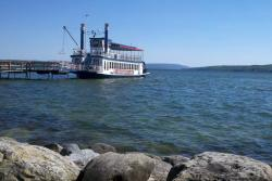 The Canandaigua Lady docks at the north end of Canandaigua Lake