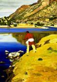 Along the Rio Grande, by Walter Ufer