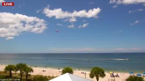 Image taken from Englewood Beach EarthCam of Beach - Sunny Day - August 2019