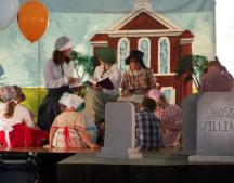 "The cast of the children's musical ""Tom Sawyer"" performs at Harborfest 2009. This year's children's musical is ""The Three Musketeers"". Audition are April 27 and 28 from 5 PM to 7 PM at the McCrobie Building in Oswego"