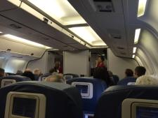 Onboard a Delta Airlines 767 at Sea-Tac Airport