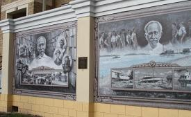 Mural in Punta Gorda, FL: The Life and Times of George Brown