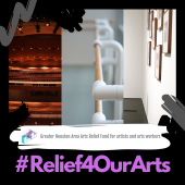 Relief4ourarts Houston logo