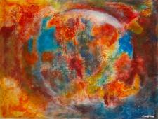 Abstract painting by Carol Christine of Punta Gorda's Artisan Atelier