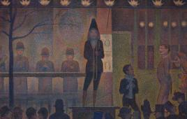 Georges Seurat (French, 1859-1891). Circus Sideshow (Parade de cirque), 1887-88. Oil on canvas. The Metropolitan Museum of Art, Bequest of Stephen C. Clark, 1960