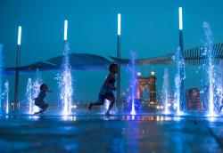fountain fun at smale park