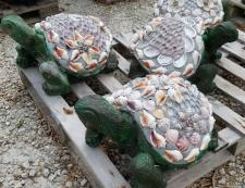 Turtles with shell-studded Shells at Pottery Express