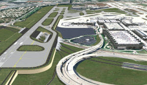 Artist rendering of the new 8,000-foot runway at Fort Lauderdale-Hollywood Internationa Airport