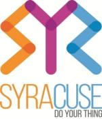 "Visit Syracuse ""Do Your Thing"" Logo in Orange, Purple and Blue"
