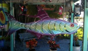Painted metal tarpon by Jon Hatch