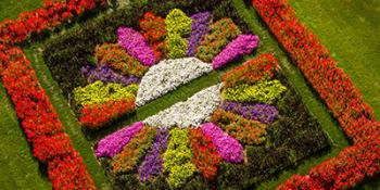 Quilt garden flower design