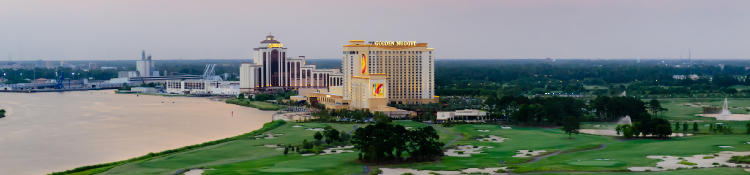 L'Auberge Casino Resort and Golden Nugget sit right next door to each other in Lake Charles, LA.