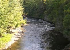 Anglers will find miles of riverbank to fish from in Oswego County, including the Salmon River, a top fishing destination in New York State.