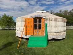 Yurt at Journey Home Artist Retreat