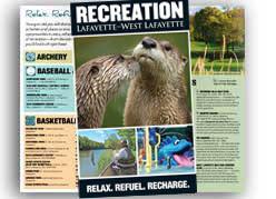 recreation brochure cover