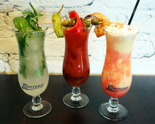 Three colorful mocktail cocktails from Riptides to choose from