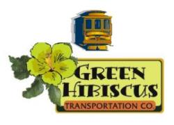 Green Hibiscus Trolley Logo