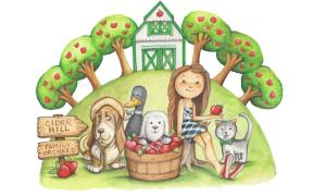 Cider the Orchard Dog, a Story Coloring Book