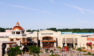 Exterior entrance to eastview mall in Victor