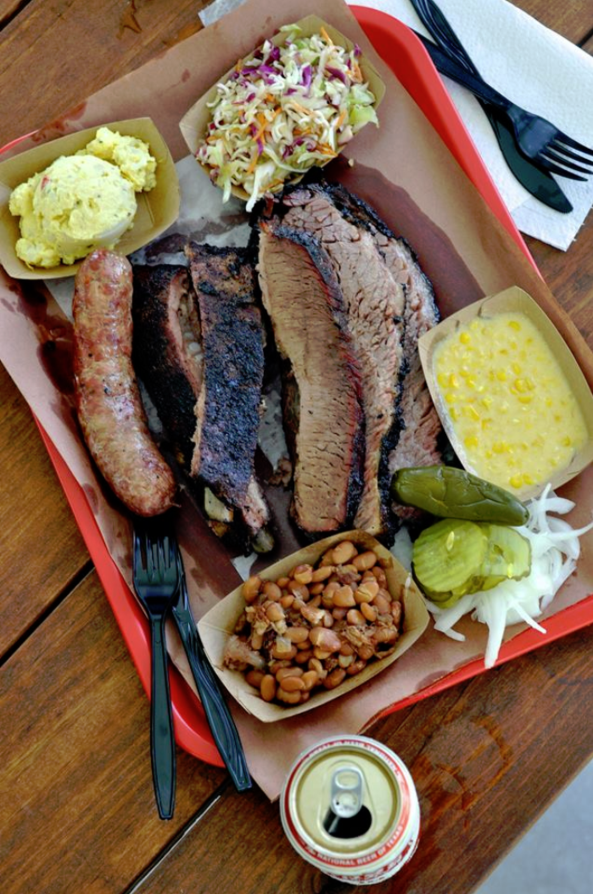 Meal at Killens Barbecue in Pearland, TX