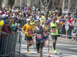 Marathon Runners Front Shot