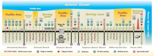 Daytona Beach Driving Map