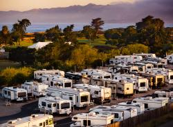 RVs in Le Sage Riviera RV Park in Grover Beach SLO CAL