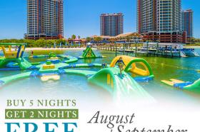 Buy 5 Nights, Get 2 Nights FREE in August & September
