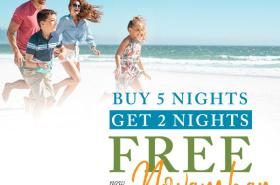 Buy 5 Nights, Get 2 Nights FREE now through November