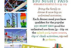 Dine & Play at Laguna's with $30 Night Pass