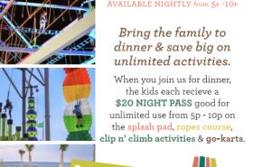 Dine & Play at Laguna's with $20 Night Pass