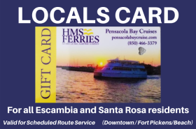 LOCALS' CARDS to all Escambia and Santa Rosa counties residents.