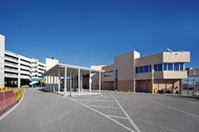 Photo of the front of Cruise Terminal 2