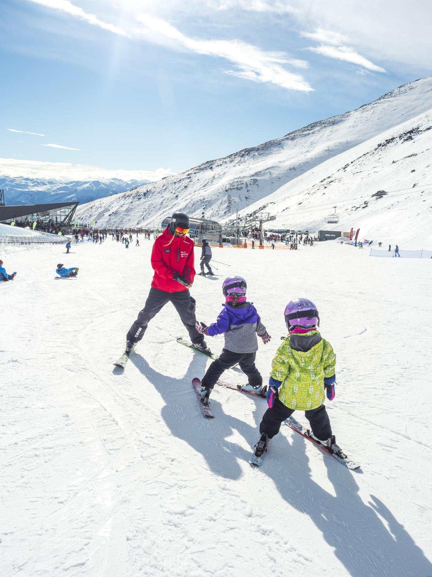 Kids Ski lesson at The Remarkables