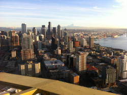 Up in Cloud 9 on top of the Space Needle Blog City View