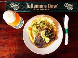 Kitty Hoynes Dinner - Beer with fish