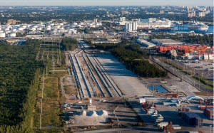 FEC Begins Laying Tracks for New Port Everglades Rail Yard