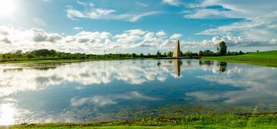 Pond at Sugar Land Memorial Park.