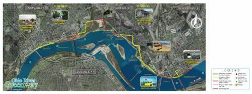 Ohio River Greenway map