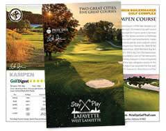 2018 golf brochure cover