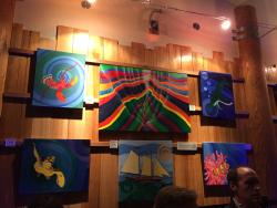 """Art Display at  Salty's """"Belly of the Whale"""" Dinner at the MaST Center Aquarium"""
