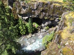 view of river gorge at Mount Rainier