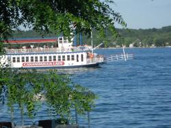 The Canandaigua Lady sets sail for a voyage on Canandaigua Lake