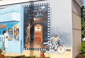 Mural in Punta Gorda, FL: Movie Memories by Michael Vires