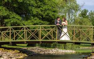 Bride and Groom at Griffin Gate